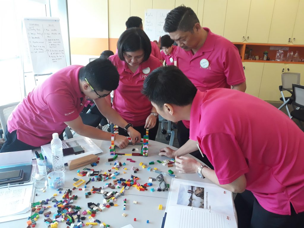 Learners using experiential learning activities to explore complex leadership concepts